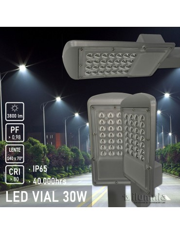 LUMINARIA VIAL LED 30W