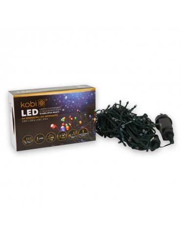 Guirnalda LED Multicolor EXTERIOR 100 LEDS INTERCONECTABLES