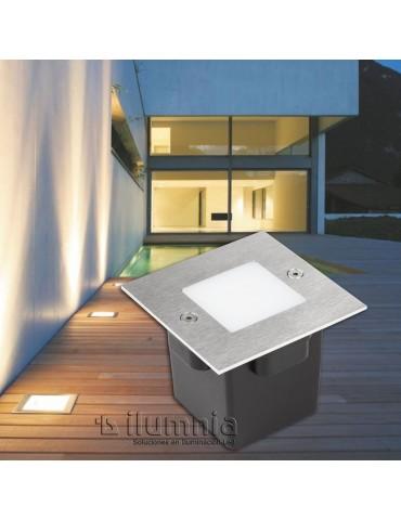 Aplique Pared LED 2W Cuadrado Clara 85 empotrar foto