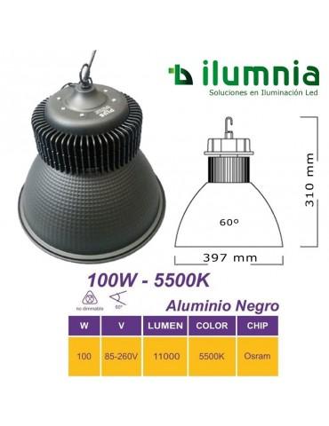 CAMPANA INDUSTRIAL LED 100W ALUMINIO BLACK