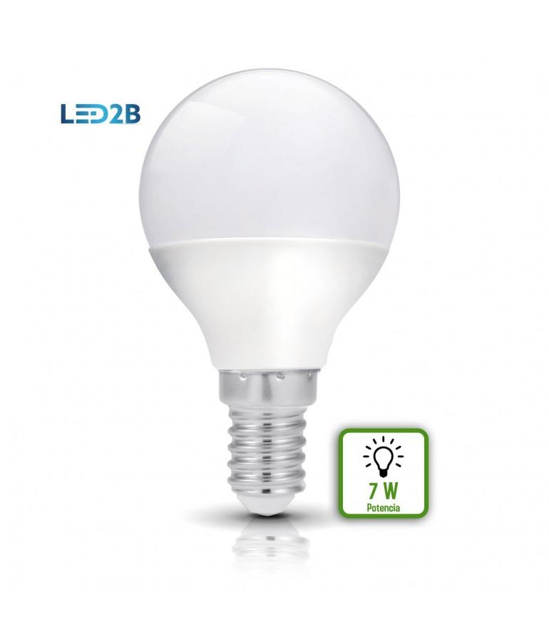 Bombilla LED Esférica 7W E14  HTPC+Aluminio 220°