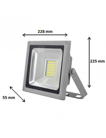 Proyector LED PROFESIONAL 30W SMD120°SLIM
