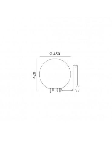 Bola Luminosa Exterior E27 Tamaño XL dimensiones