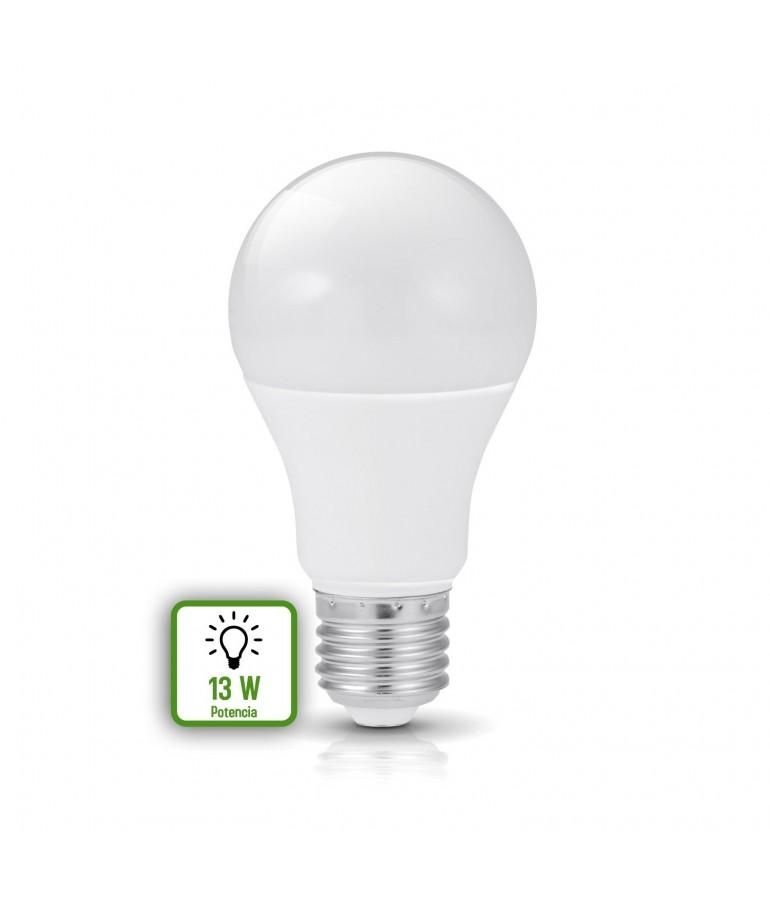 LED Estándar A60 13W E27 HTPC+ Aluminio 220°