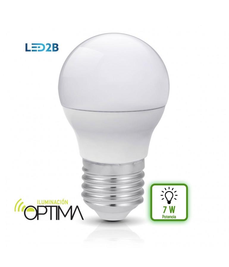 LED Esférica G45 7W HTPC+AL 220° Cristal mate