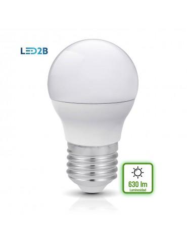 LED Esférica G45 7W E27 HTPC+Aluminio 220°