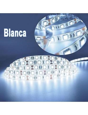 TIRA DE LED DC12V 14,4W IP20 160°BLANCA FRÍA 60LEDS SMD5050 Adhesivas