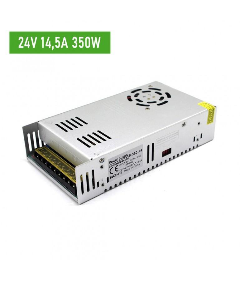 Fuente de alimentación Metálica 24V 350W 14,5A IP20 230VAC