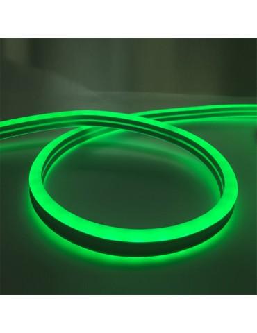 TIRA DE LED NEÓN AC230V 14,4W/m IP65 120°VERDE SMD3528impermeable