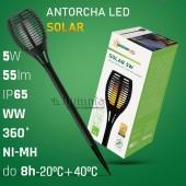 ANTORCHA SOLAR LED 5W efecto llama