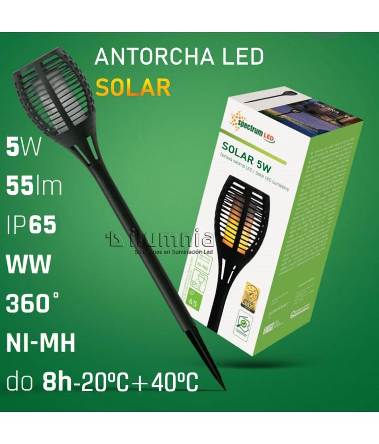 ANTORCHA SOLAR LED 5W