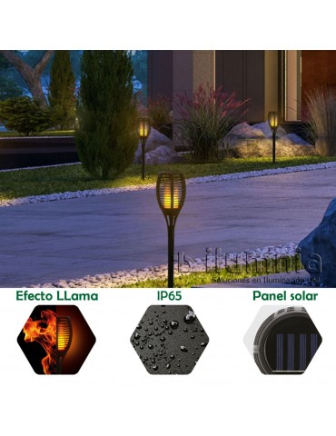 ANTORCHA SOLAR LED 5W foto