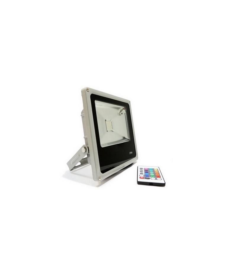 Proyector Led 10W RGB Remote Control 120° Slim IP65
