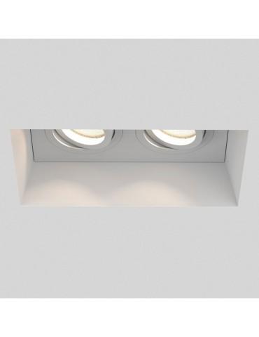 Aro rectangular empotrable de yeso modelo Torso iluminación led
