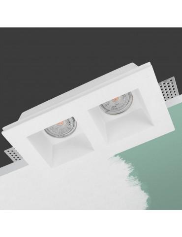 Aro rectangular empotrable de yeso modelo Torso pintable
