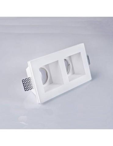 Aro rectangular empotrable de yeso modelo Torso vistas
