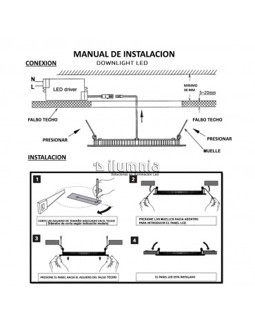 Instalación Downlight LED ilumnia