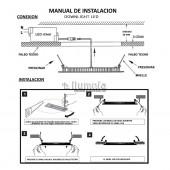 PANEL LED DOWNLIGHT 28W SLIM CIRCULAR EMPOTRABLE PLANO instalación