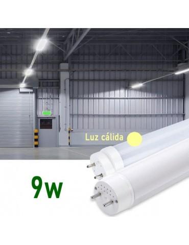 Tubo LED T8 60cm 9W Cristal 360° luz cálida