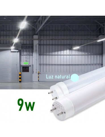 Tubo LED T8 60cm 9W Cristal 360° Luz natural