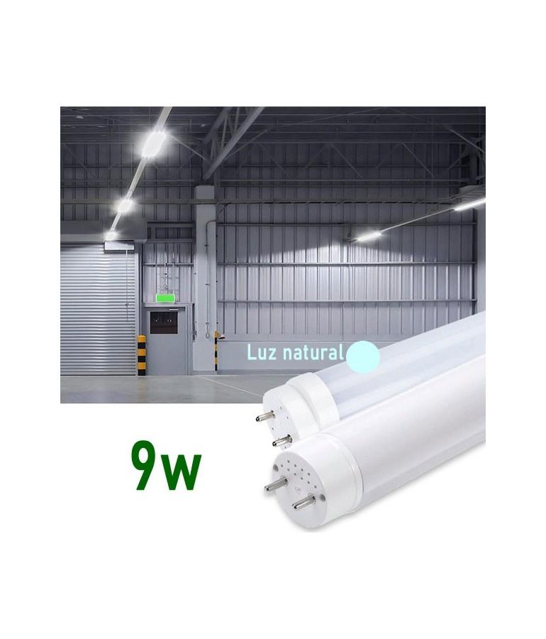 Tubo LED T8 60cm 9W Cristal 360° Luz natural
