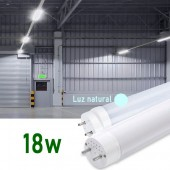 Tubo LED T8 120cm 18W Cristal 360° Luz natural