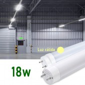Tubo LED T8 120cm 18W Cristal 360° Luz cálida
