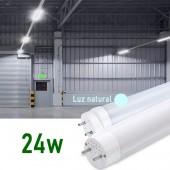 Tubo LED T8 150cm 24W Cristal 360° Luz natural