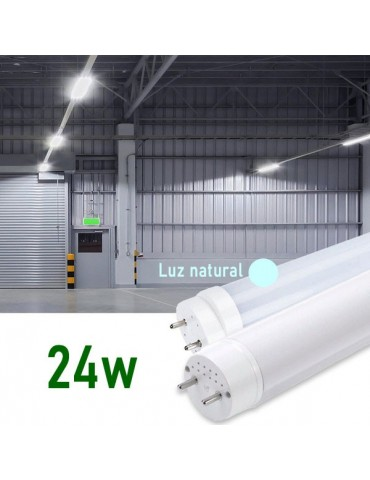 Tubo LED T8 150cm 24W Cristal 360° Luz natural