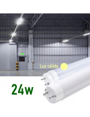 Tubo LED T8 150cm 24W Cristal 360° Luz cálida