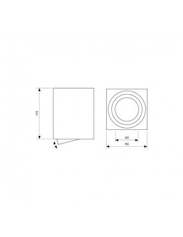 Aplique techo basculante  OH37 L Cromo