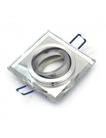 Aro empotrar basculante cristal Transparente detalle aro movible