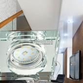 Aro de empotrar basculante cuadrado Cristal  transparente aplicaciones