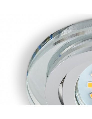 Aro redondo Cristal Transparente detalle