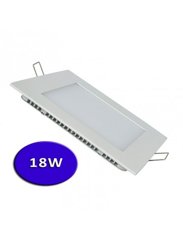 "PANEL LED Downlight Cuadrado 18W ""extra plano"" empotrable"