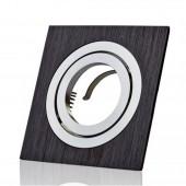Aro de empotrar basculante Negro Cuadrado aluminio perfil