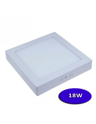 PANEL LED Downlight 18W cuadrado plano de superficie