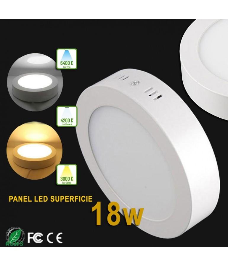 PANEL LED Downlight 18W circular de superficie