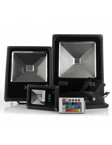 Proyector Led 10w 20w 30w 50W RGB Remote Control IR 120°Slim IP65