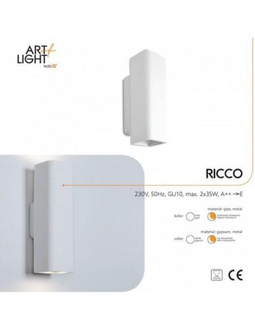 Aplique de pared yeso RICCO 2xGU10