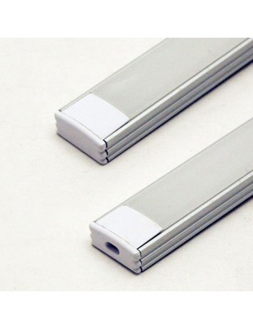Tapas finales perfil aluminio BAJO Tira led