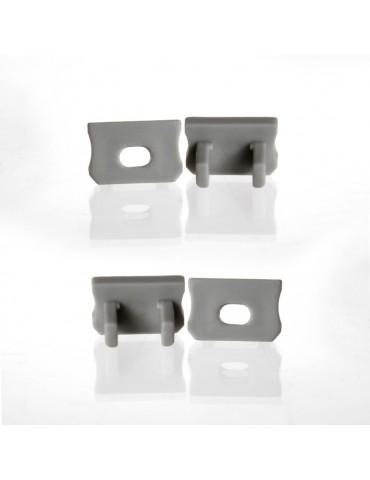 Tapa final con agujero perfil aluminio Alto Tira led