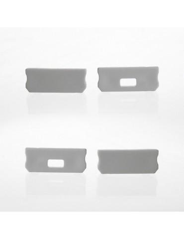 Tapa final perfil aluminio BAJO Tira led