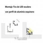"""Clip sujeción perfil """"C"""" ESQUINERO aluminio tira led"""