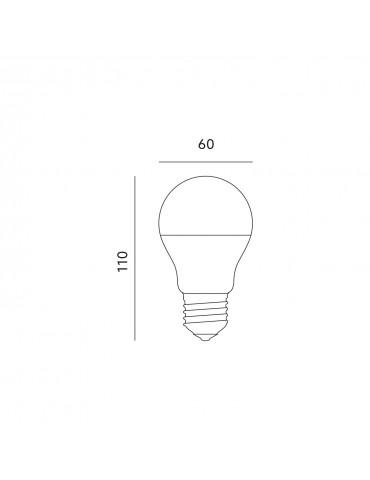 LED Estándar A60 7W E27 HTPC+Aluminio 220°