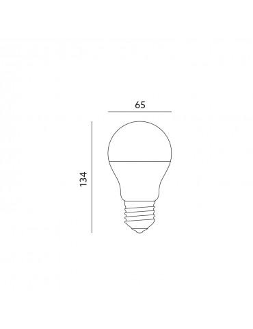 LED Estándar A65 15W E27 HTPC Aluminio 220° dimensiones