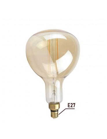 LED VINTAGE RETRO GIGANTE XL ER180 8W E27 230V CRISTAL 360°