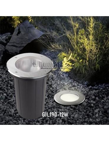 Foco Proyector LED de suelo Circular 12W 1800lm Gil 190