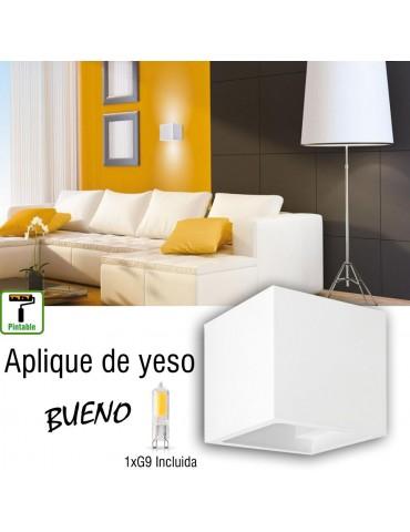 Aplique de pared yeso BUENO 1xG9
