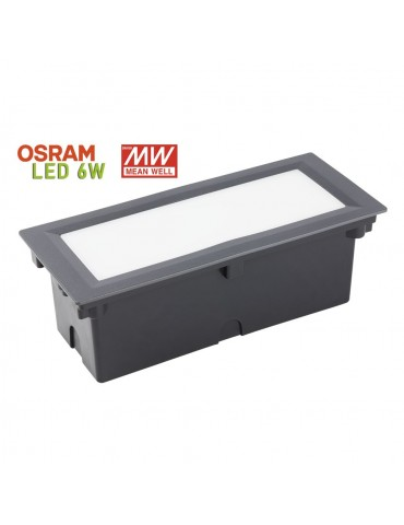 Aplique Pared LED 6W Rectangular Clara 300 empotrar